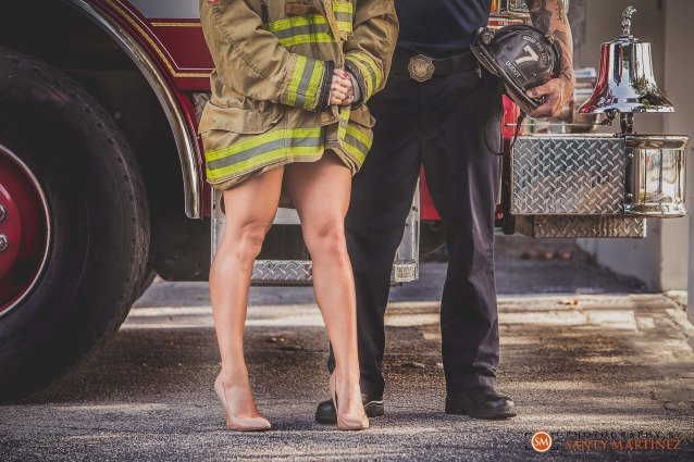 Miami Firefighter Engagement Session - Photography by Santy Martinez-12