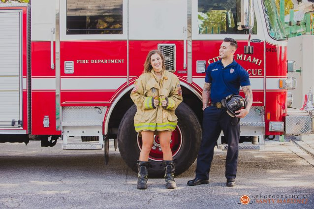 Miami Firefighter Engagement Session - Photography by Santy Martinez-13