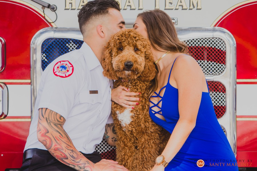 Miami Firefighter Engagement Session - Photography by Santy Martinez-5