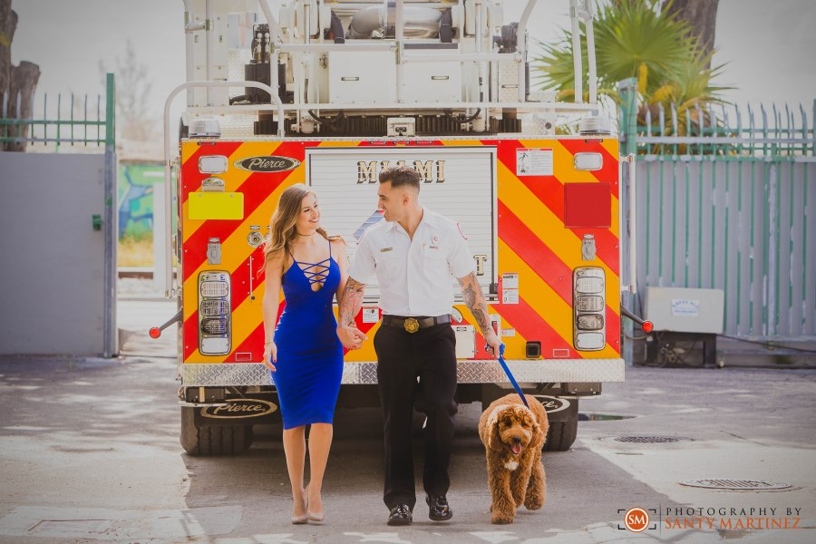 Miami Firefighter Engagement Session - Photography by Santy Martinez-6