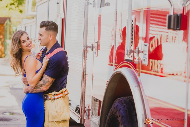 Miami Firefighter Engagement Session - Photography by Santy Martinez-8
