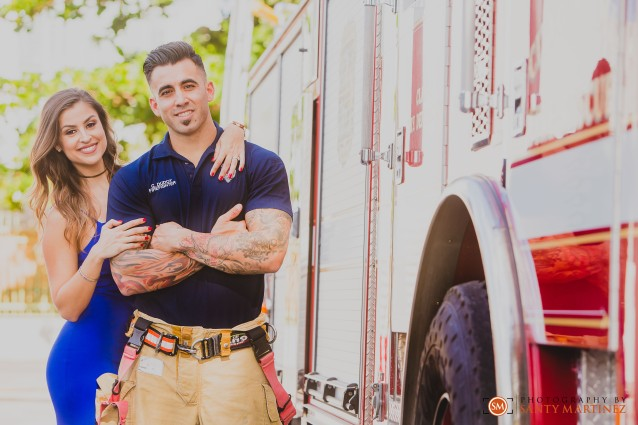 Miami Firefighter Engagement Session - Photography by Santy Martinez-9