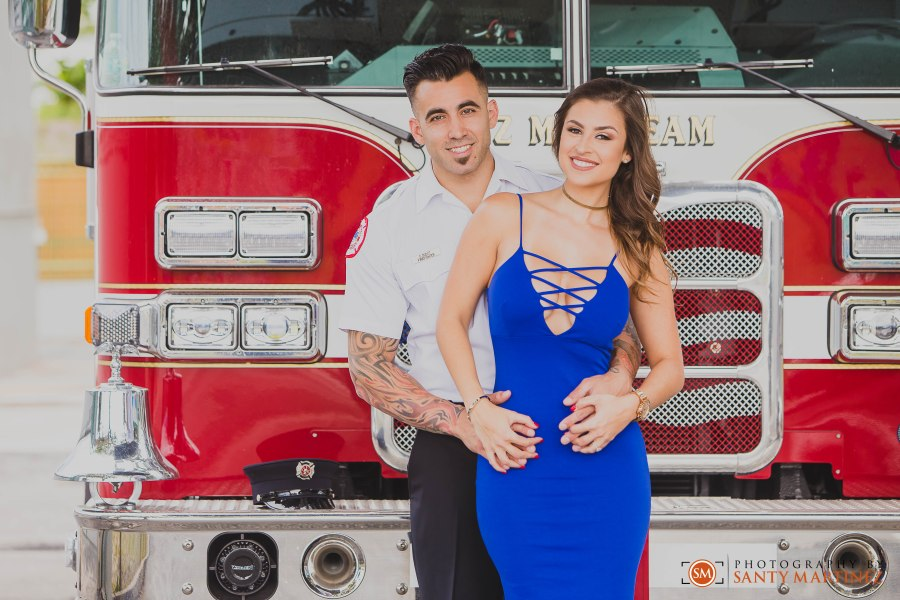 Miami Firefighter Engagement Session - Photography by Santy Martinez